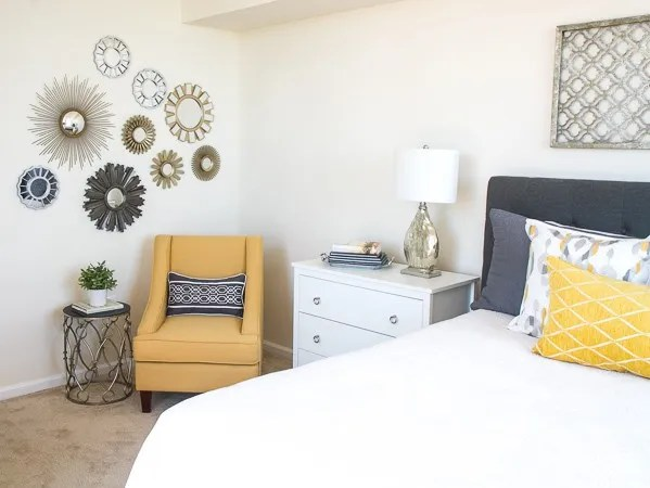 Master Bedroom Corner with Chair & Mirrors