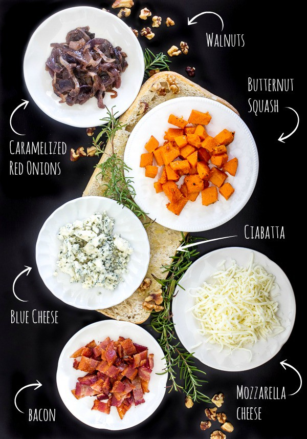 Butternut Squash pizza ingredients