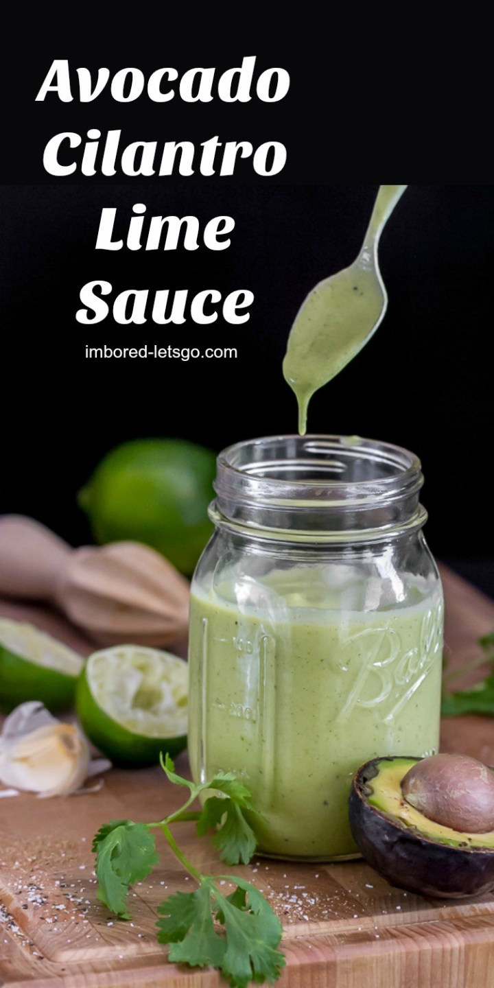 This Avocado Cilantro Lime Sauce make a fantastic sauce for grilled meats, tacos and delicious as a salad dressing too!