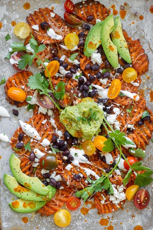 spicy sweet potato nachos