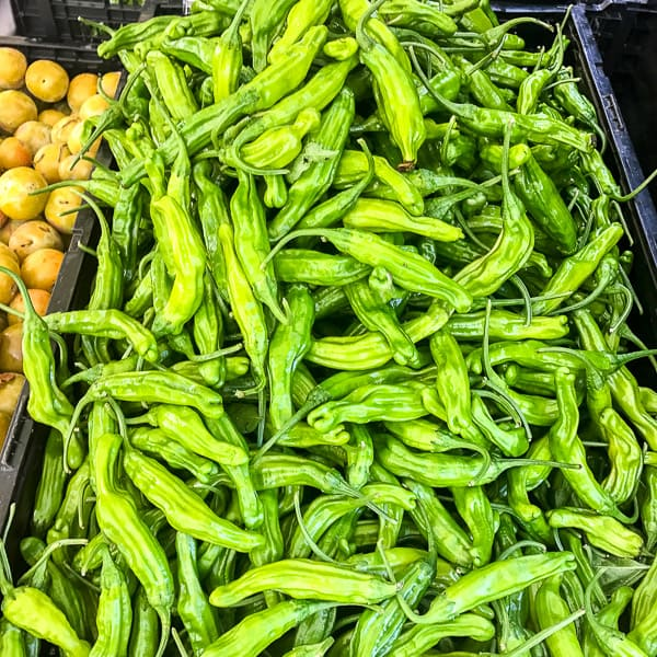 Shishito Peppers at the Farmers Market