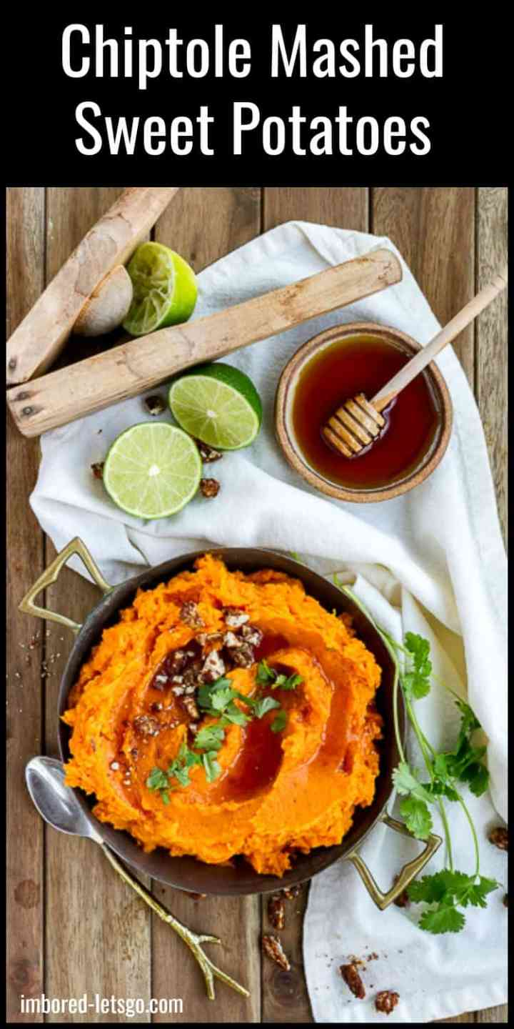 Chipotle Mashed Sweet Potatoes with Honey and Lime make a perfect side dish for Thanksgiving (or any day).