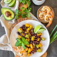 Mango, Avocado & Black Bean Salad with Shrimp