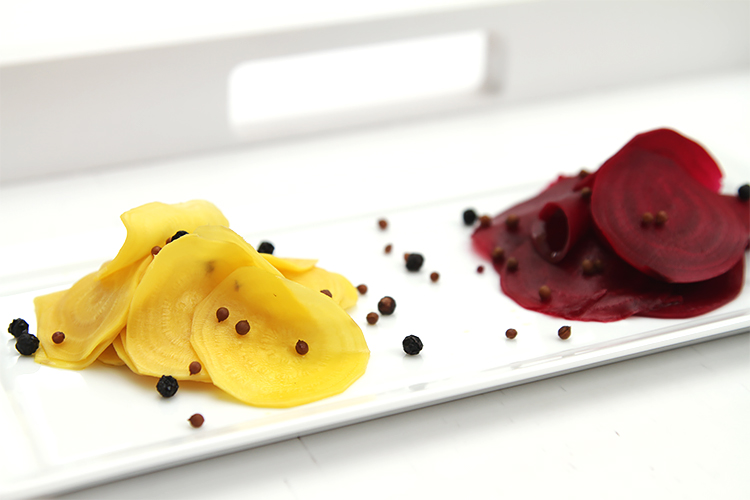 Pickled beets with fresh ginger