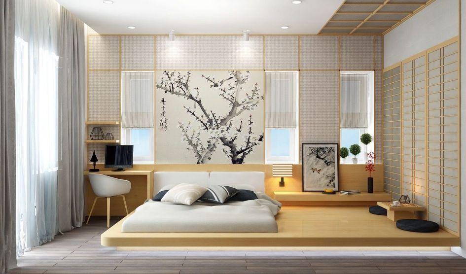 habitación de matrimonio con estilo minimalista