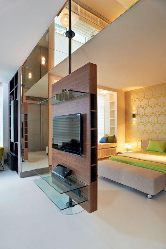 Decoración de interiores con separadores de ambiente (15)
