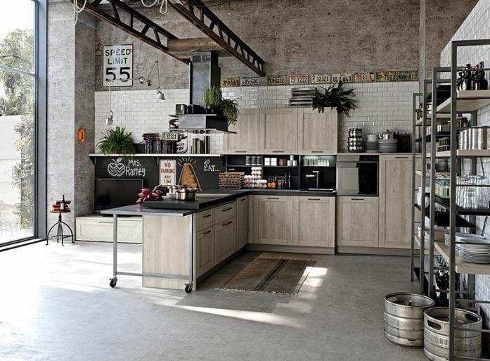 Los 3 estilos más importantes para la decoración - industrial cocinas