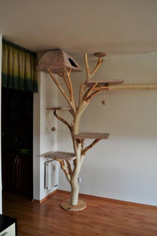 Ideas DIY para crear espacios para gatos (10)