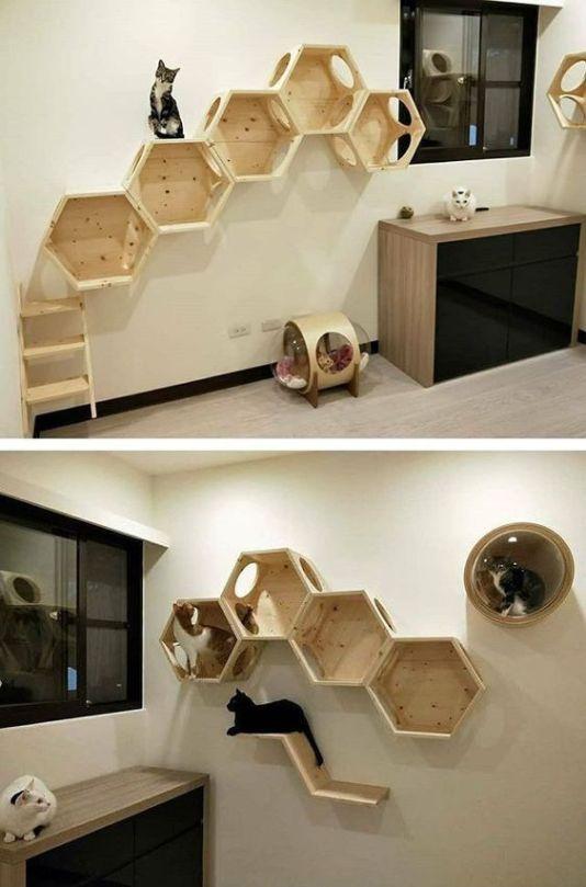 Ideas DIY para crear espacios para gatos (16)
