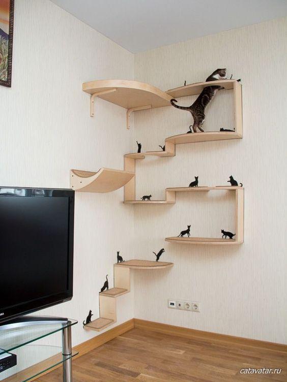 Ideas DIY para crear espacios para gatos (6)