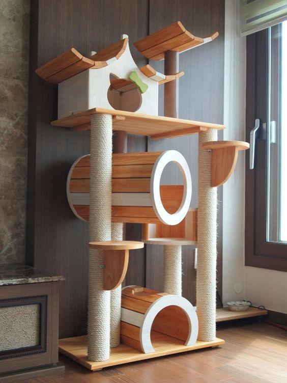 Ideas DIY para crear espacios para gatos (9)