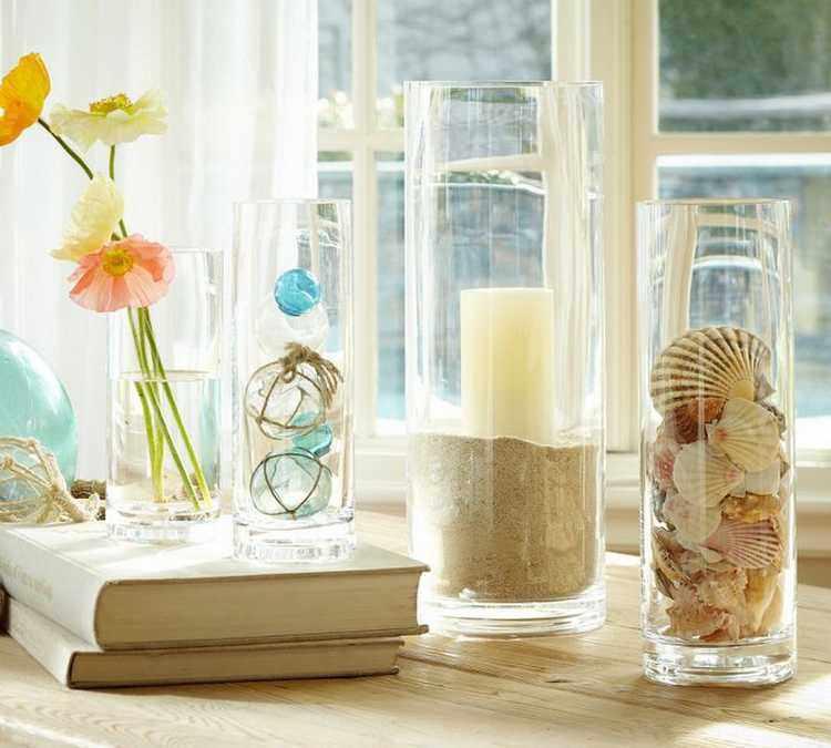 Decoración con jarrones de cristal (11)