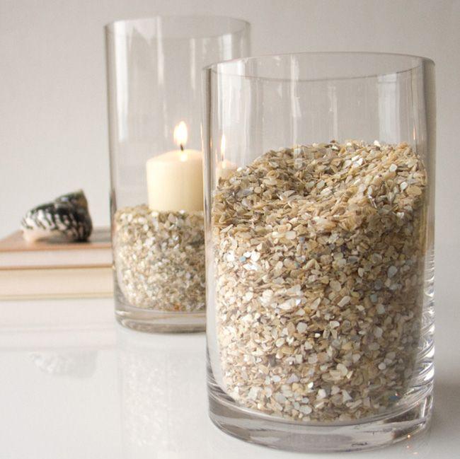 Decoración con jarrones de cristal (4)