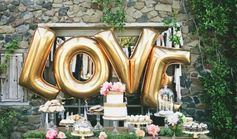 decoración con globos letra
