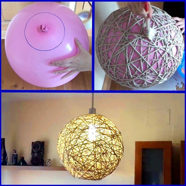 lámpara de cordel