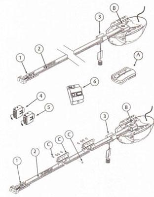 Genie Garage Door Openers 1024 1022 ChainLift BeltLift
