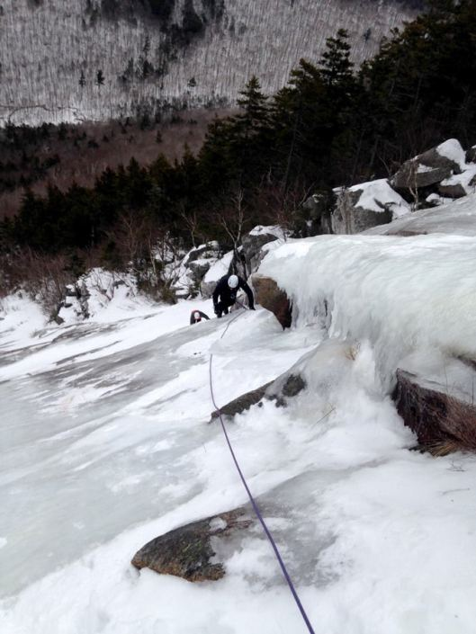 Cruising up Willey's Slide in Crawford Notch.