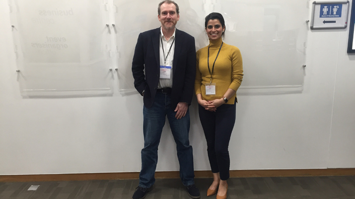 Mike Lawton and Shefali Sharma of Oxford Space Systems