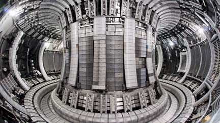 Inside the JET fusion reactor at Culham