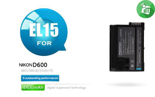 Pisen EL15 Camera Battery Charger for NIKON D600 (1)