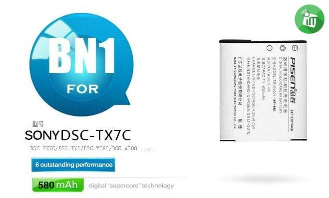 Pisen NP-BN1 Camera Battery Charger for Sony DSC-TX7C (2)