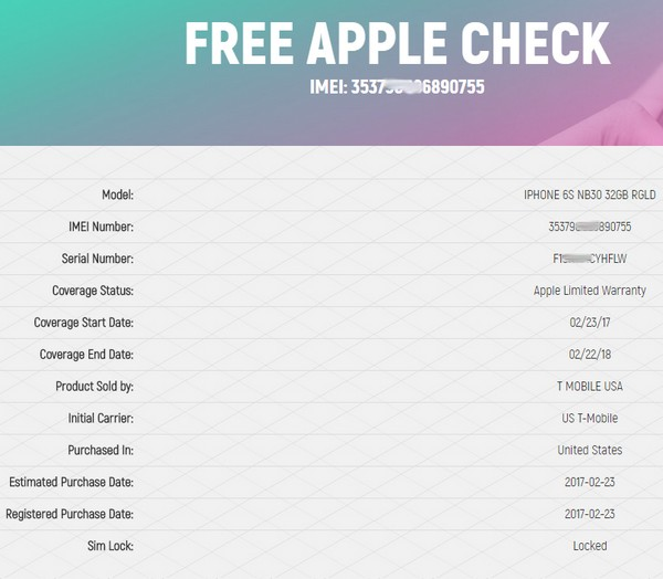 Free iPhone check - News - IMEI.info
