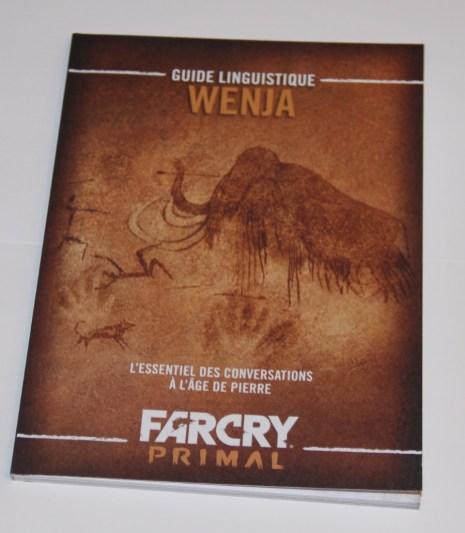 Collector - Far Cry Primal - édition collector - guide linguistique devant