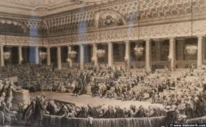 Γκραβούρα εποχής που απεικονίζει τη Γενική Συνέλευση των Τάξεων