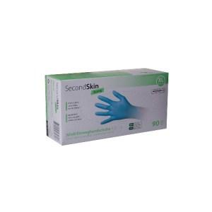 Handschuhe, Nitril, SecondSkin, Strong, punderfrei, fingertexturiert, hellblau, Box