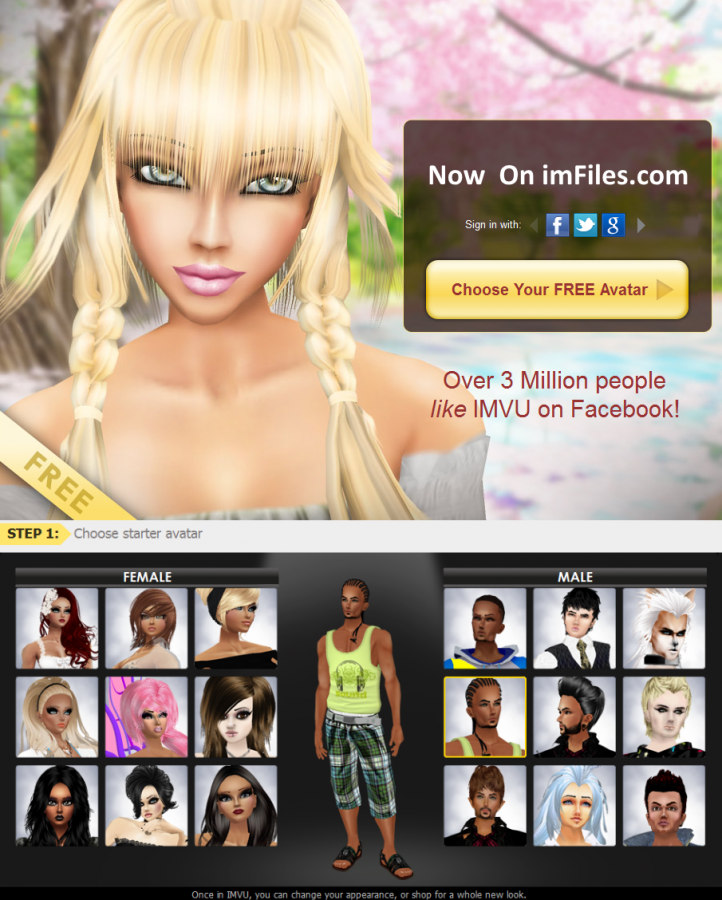what is imvu avatar chat software