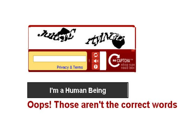 Impossible reCAPTCHA Form