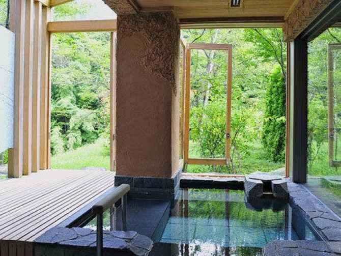 【別邸 仙寿庵】の客室露天風呂