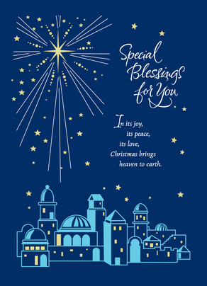 Star Of Bethlehem Blessing Christmas Card Cardstore