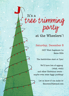 Tree Trimming Party Christmas Invitation Cardstore