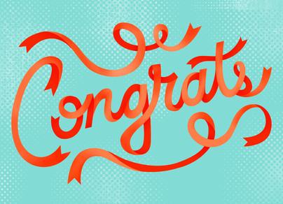 Congrats Ribbon Design Congratulations Card Cardstore