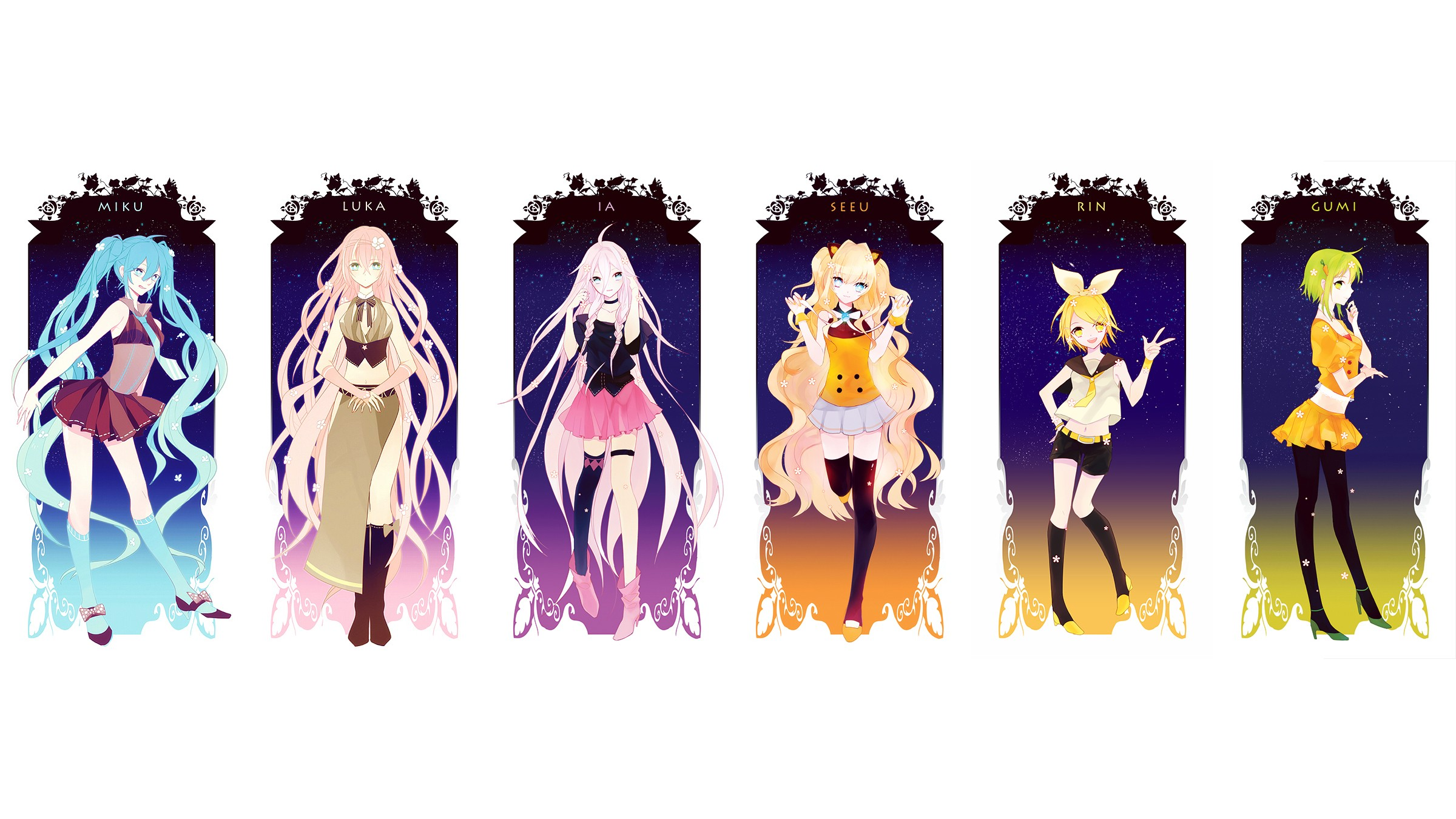 vocaloid characters wallpaper 2400x1350