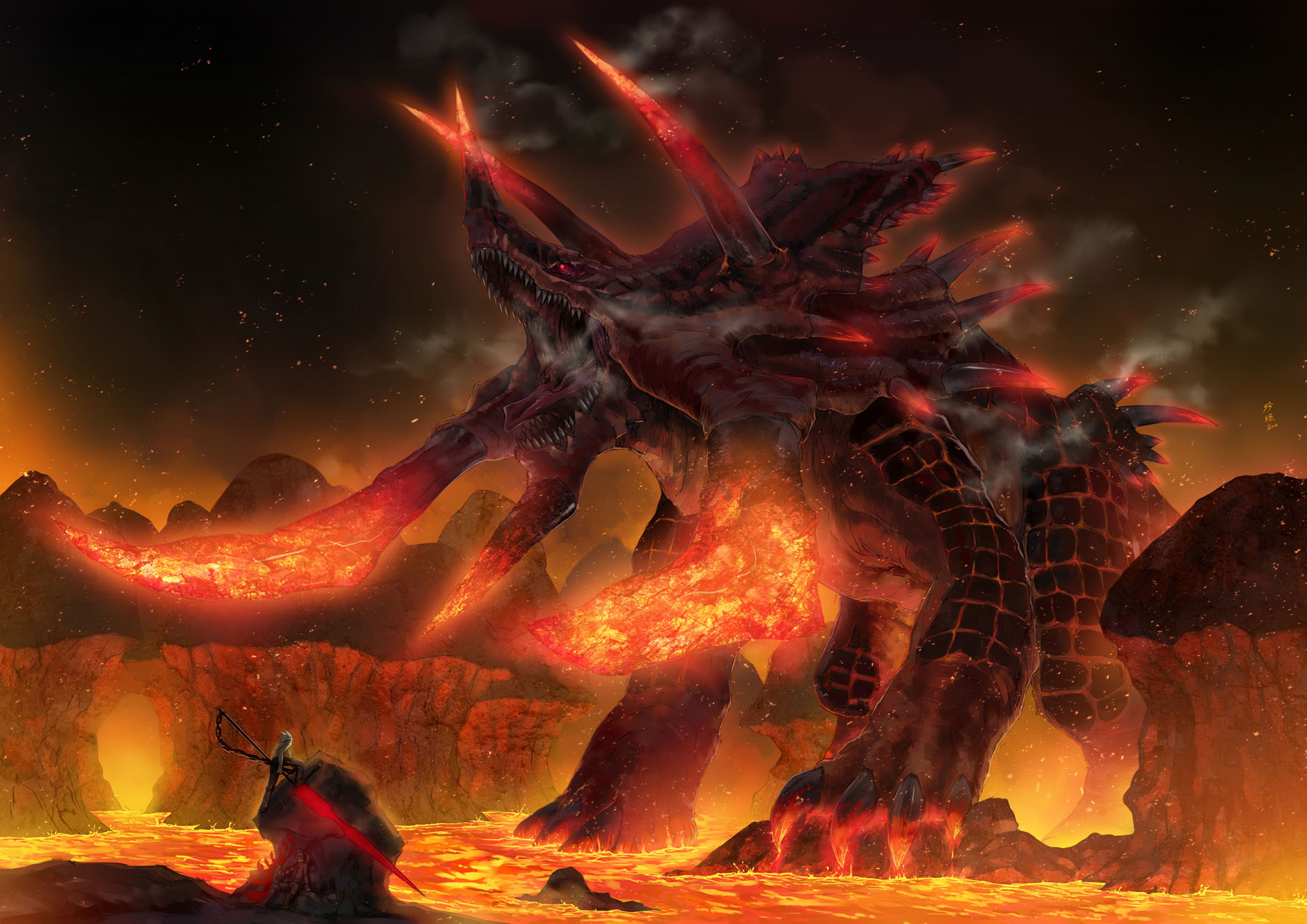 fire demon wallpaper 1871x1323