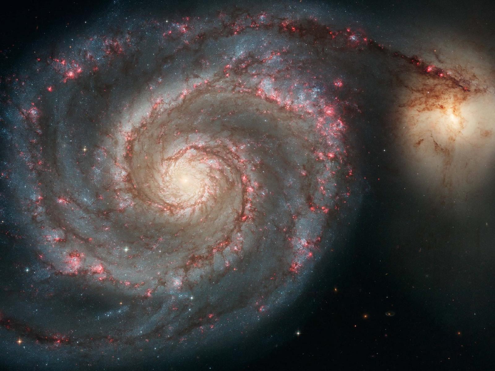 Galaxy Collision wallpaper