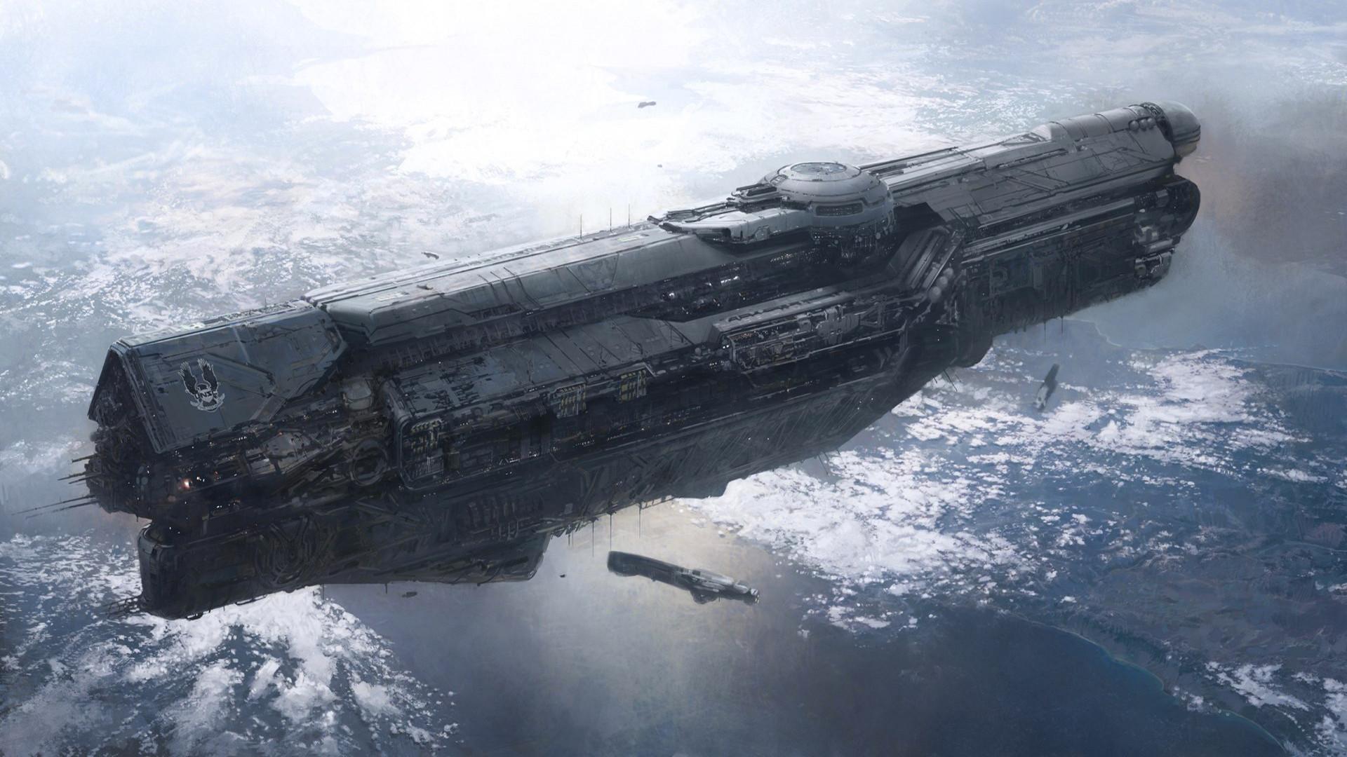 Halo Spaceship wallpaper