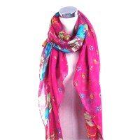 Beautiful Totem Women's Floral Flower Scarf Shawl Wrap
