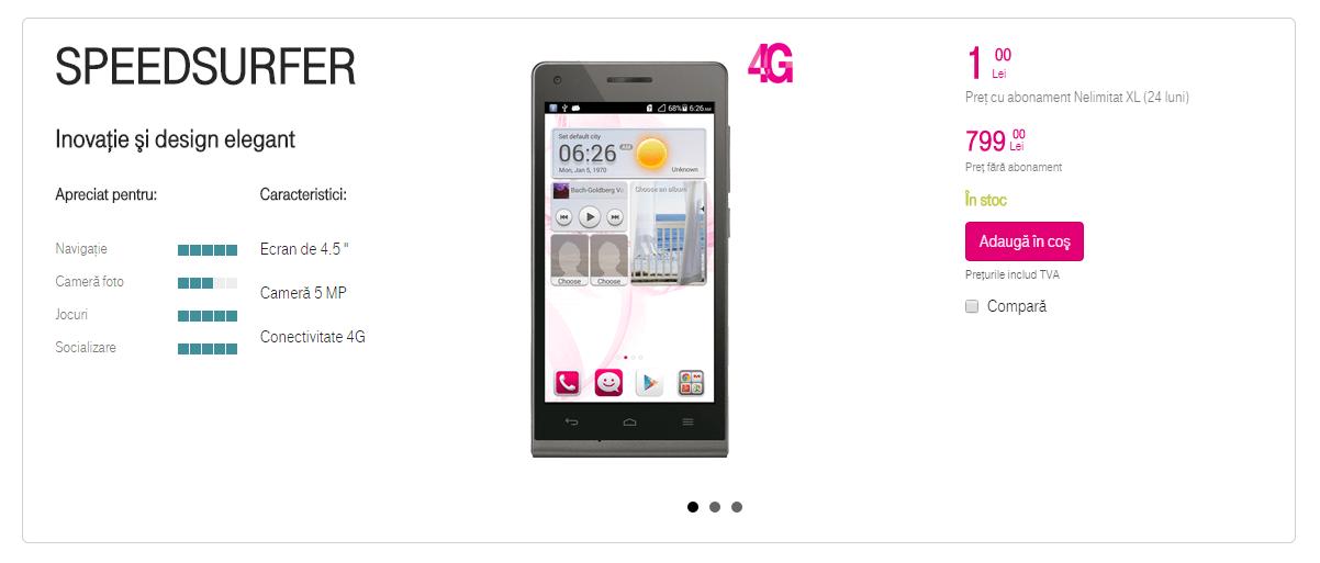 Speedsurfer – smartphone ieftin de la Telekom