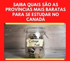 Estudar no Canadá: províncias baratas destacada