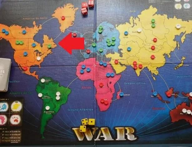 Localização de Labrador no Mapa do jogo de Tabuleiro War