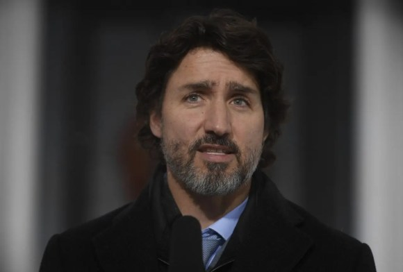 Foto Atual de 2021 do Justin Trudeau Primeiro Ministro do Canadá