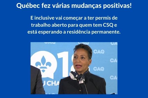 Quebec trouxe algumas notícias bem positivas na sua imigração.