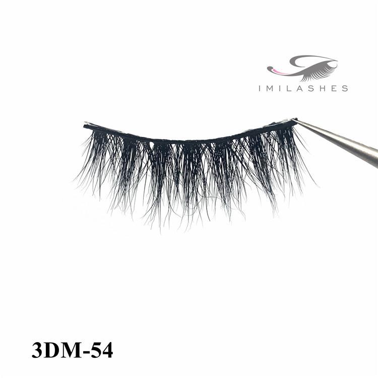 Wholesale best natural length 3d mink eyelashes vendor-L