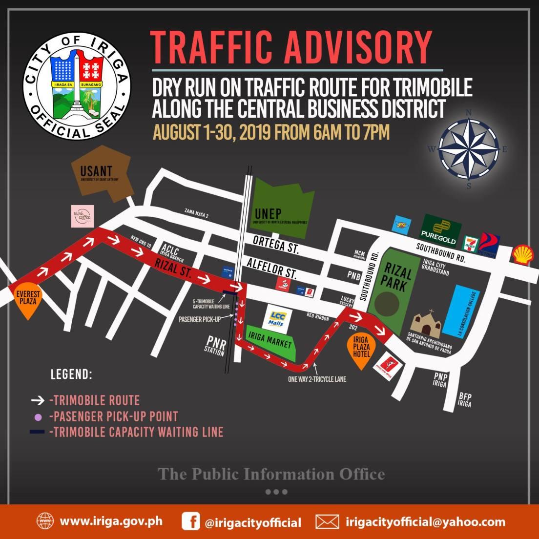 Iriga City commences dry run on trimobile re-routing to decongest central business district