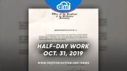 Malacañang declares half-day work on Oct. 31 for All Saints' Day & All Souls' Day