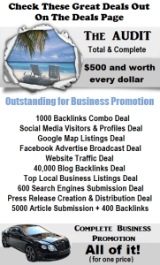 our promotion deals for your business and brand