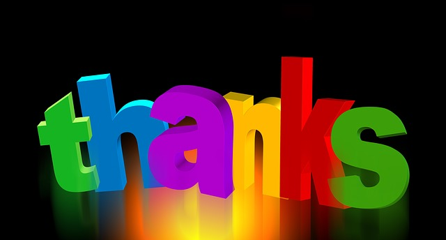 saying thank you to your customers
